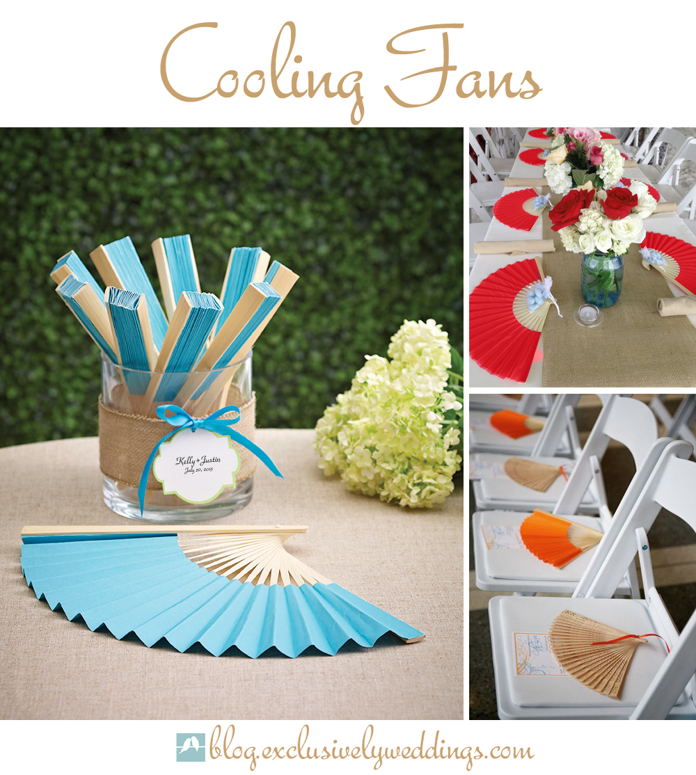 5 easy ways to pamper guests at your beach wedding wedding fans Fans For Wedding