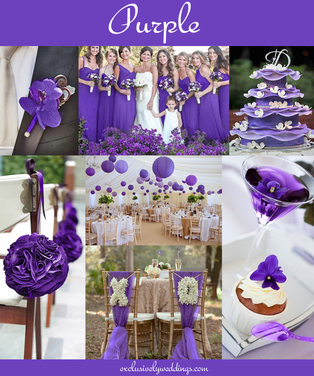 Purple Weddings Ideas: The 10 All-Time Most Popular Wedding Colors