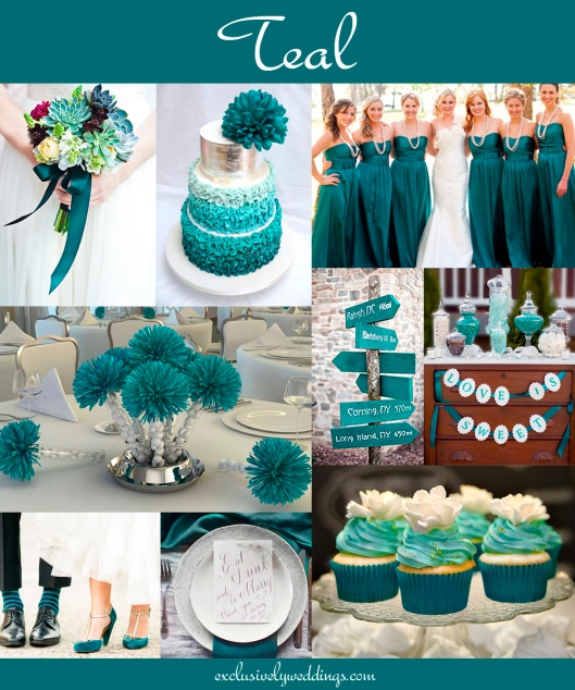 Teal Wedding Ideas For Reception: The 10 All-Time Most Popular Wedding Colors