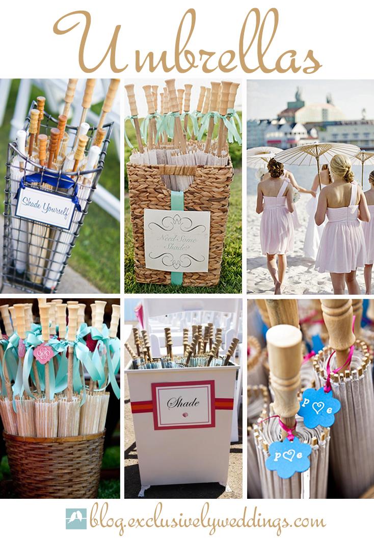 Umbrellas For A Beach Wedding