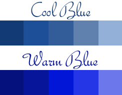 Warm blue and cool blue