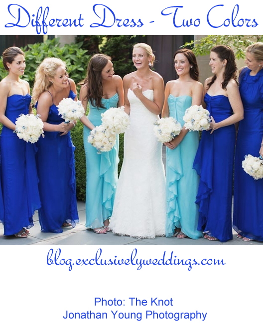 Bridesmaids_Different_Dress_Two_ Colors