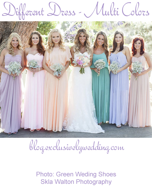 Bridesmaids_Different_Dresses_Multi_Colors