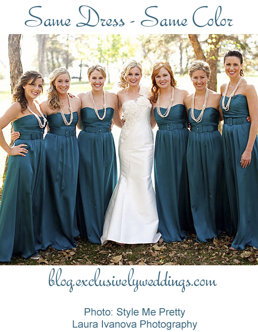 Bridesmaids_Same_Color_Same_Dress