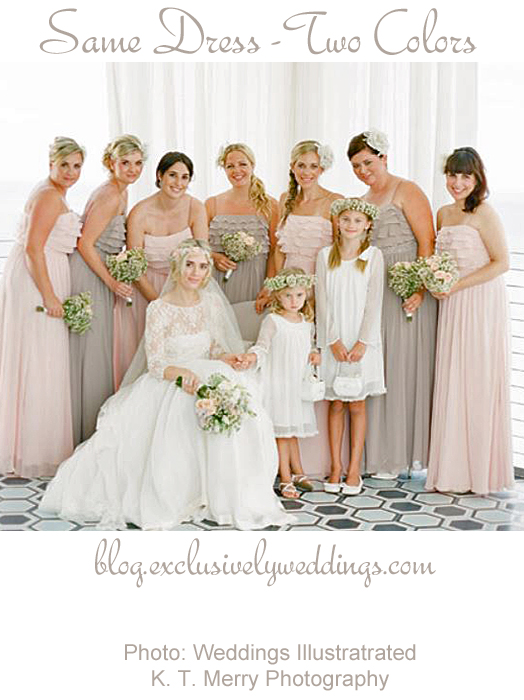 Bridesmaids_Same_Dress_Two_Colors