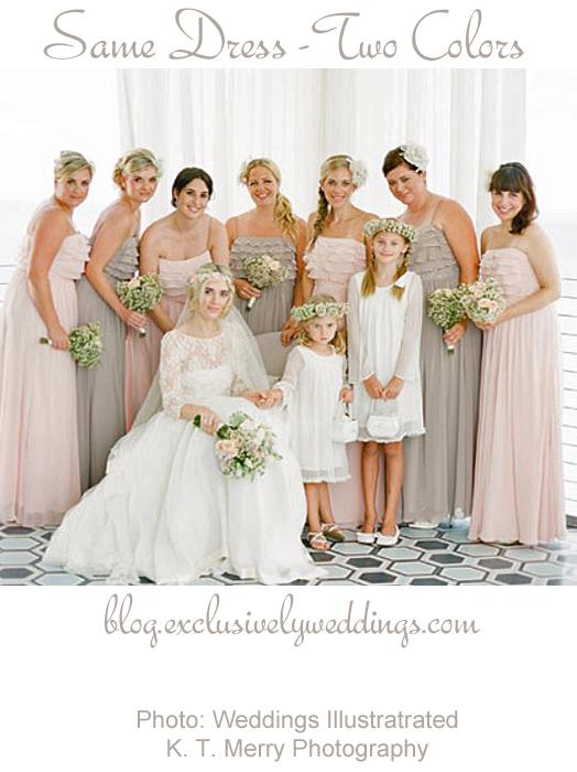 Bridesmaid Dresses Two Colors - Cheap Wedding Dresses