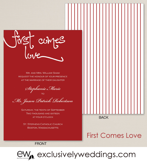 First_Comes_Love_Wedding_Invitation_From_Exclusively_Weddings