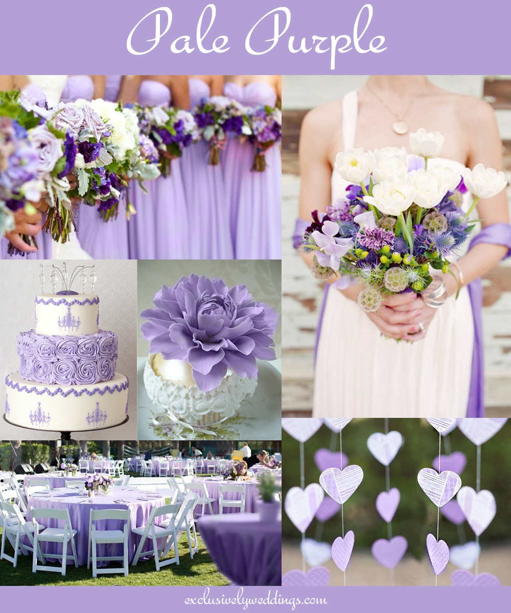 Your wedding color dont overlook five luscious shades of purple palepurplewedding junglespirit Image collections