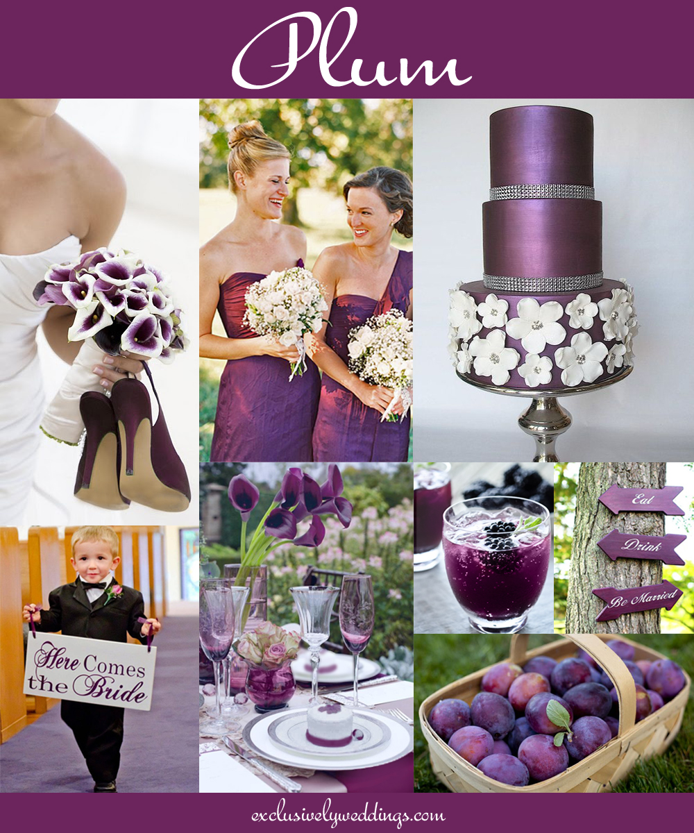 Your wedding color dont overlook five luscious shades of purple plumweddingcolorblogexclusivelyweddings junglespirit