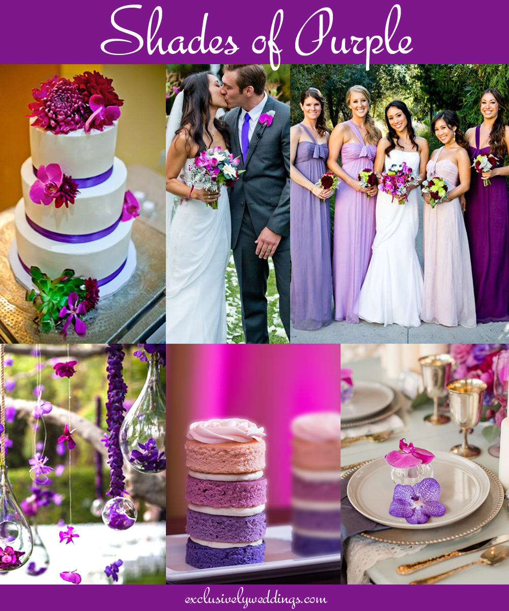 Your wedding color dont overlook five luscious shades of purple shades of purple junglespirit Images