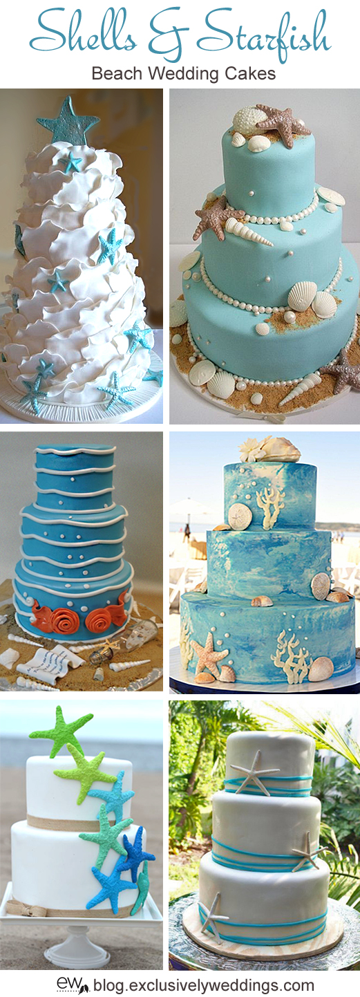 five perfect designs for your beach wedding cake exclusively weddings blog wedding ideas and. Black Bedroom Furniture Sets. Home Design Ideas