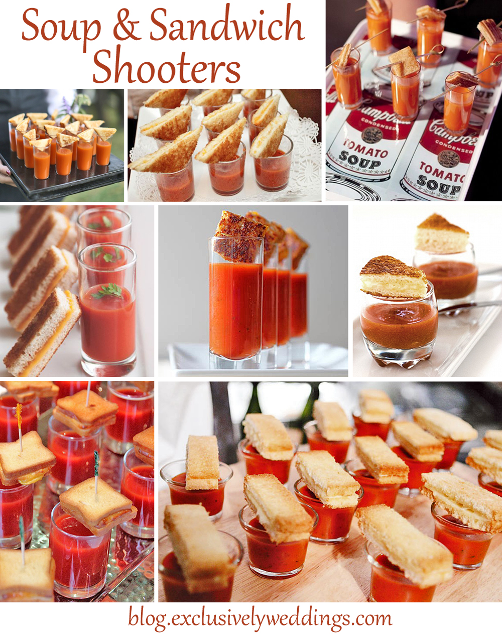 Impress Your Wedding Reception Guests ... Serve the Meal in Shooters ...