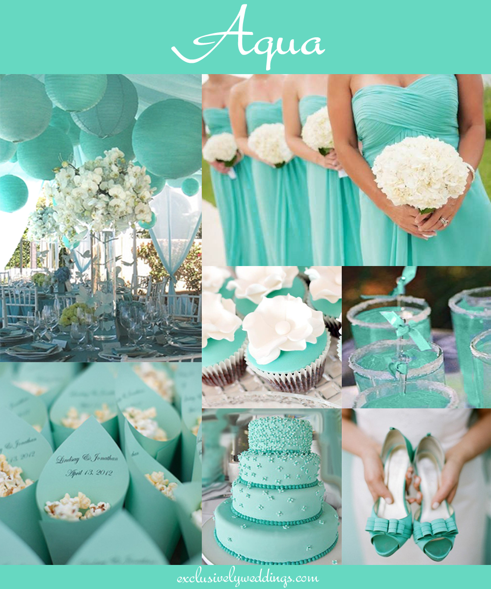 Turquoise and Aqua | Exclusively Weddings