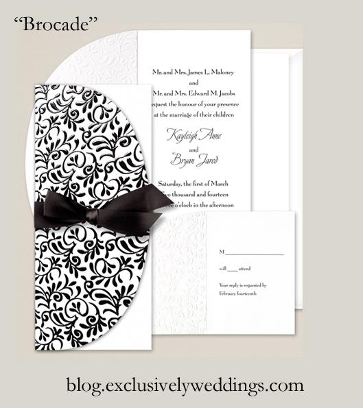 Wedding Invitation By Exclusively Weddings Brocade