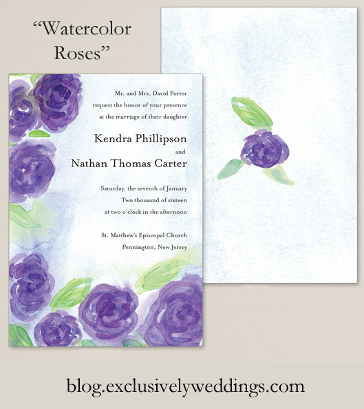 Wedding_Invitation_By_Exclusively_Weddings_Watercolor_Roses