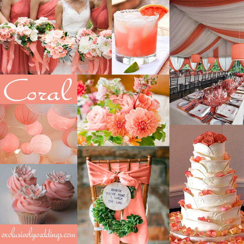 Coral wedding color combination options you dont want to coral wedding color junglespirit Gallery