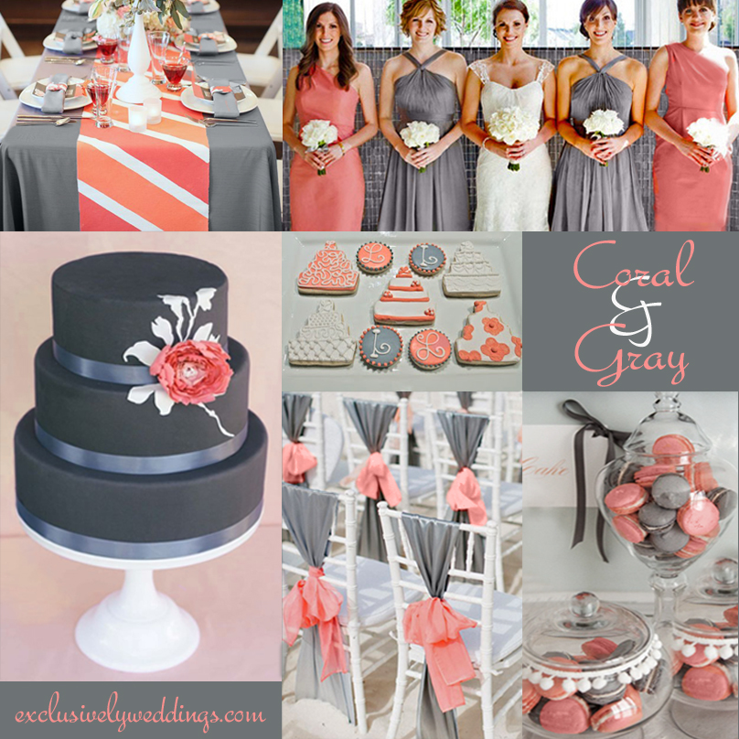 Coral_and_Gray_Wedding. Coral And Navy Wedding Colors ...