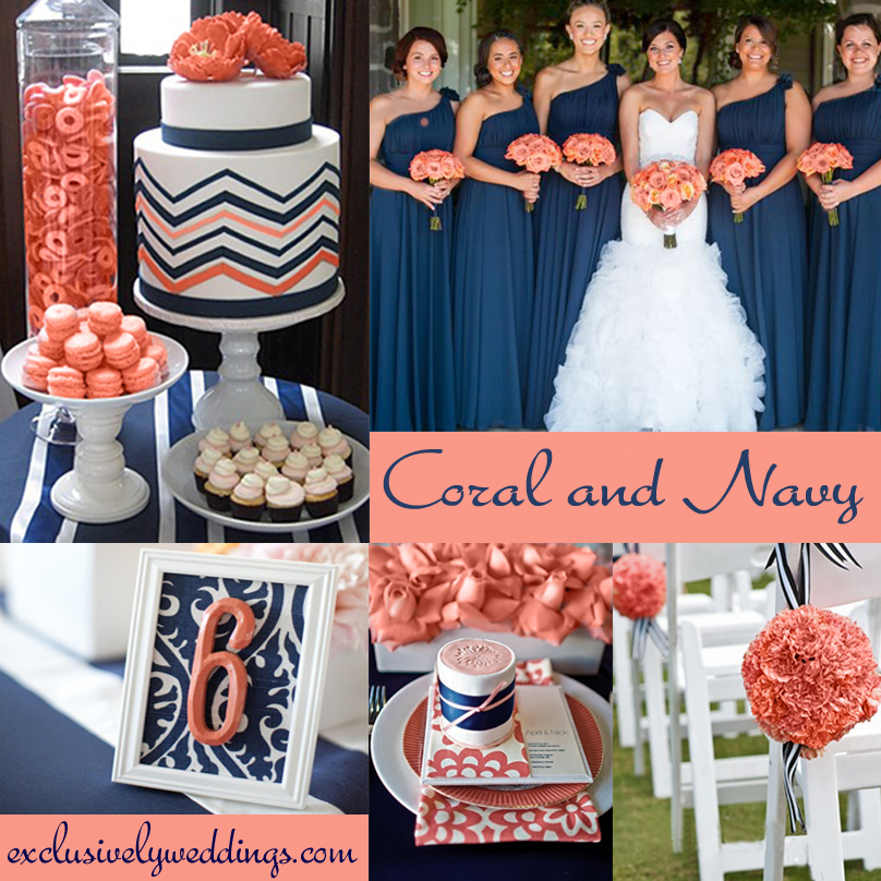 Coral Wedding Color – Combination Options You Don\'t Want to ...