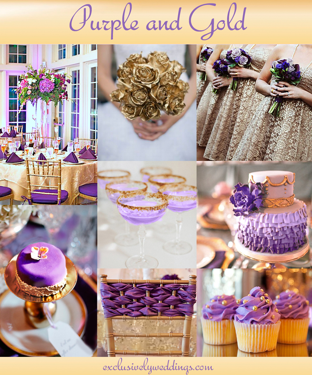 Add glamour to your wedding with gold 5 dazzling combinations purpleandgoldwedding junglespirit