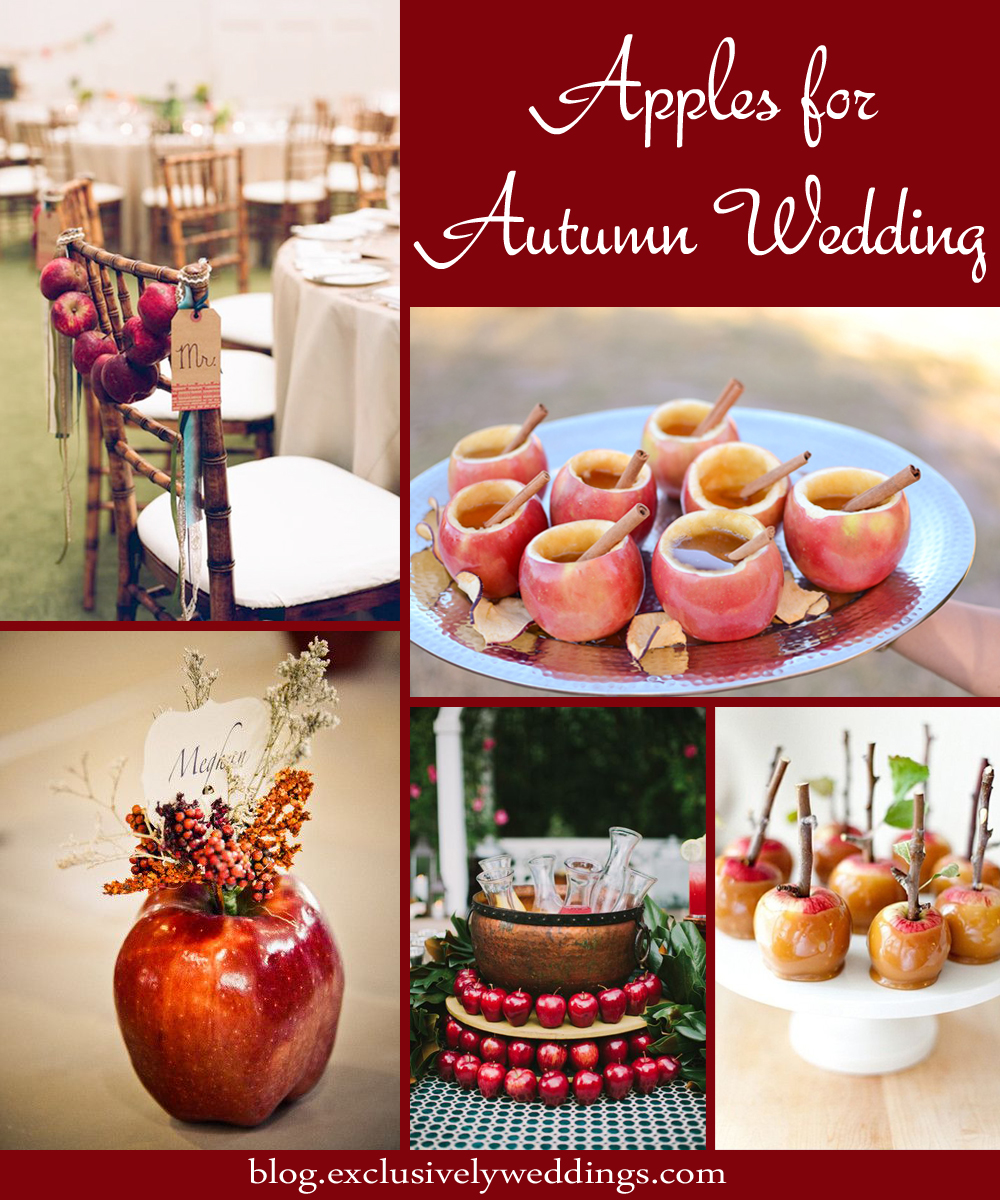 Apple decorations wedding - Apples For Autumn Wedding Decor