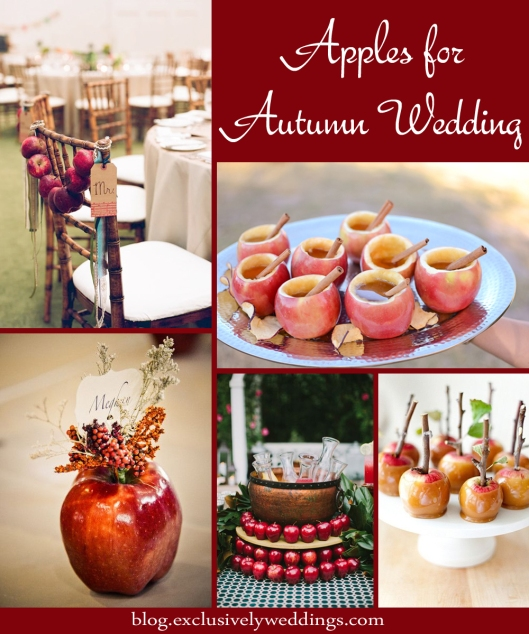 Apples for Autumn Wedding Decor