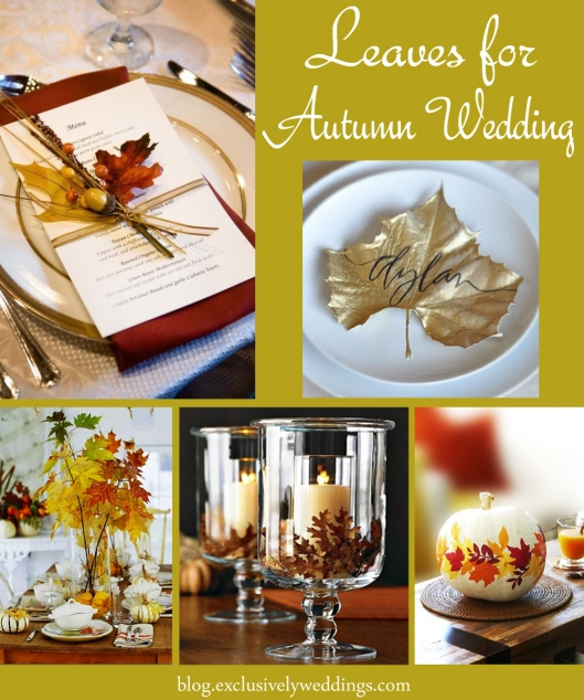 Leaves for Autumn Wedding Decor
