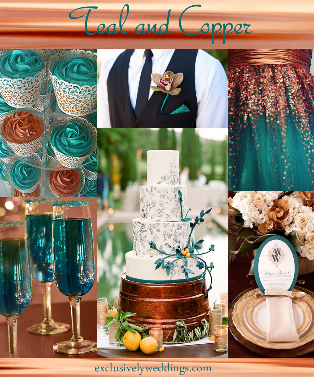 Your Wedding Color Pair With A Metallic For Stunning