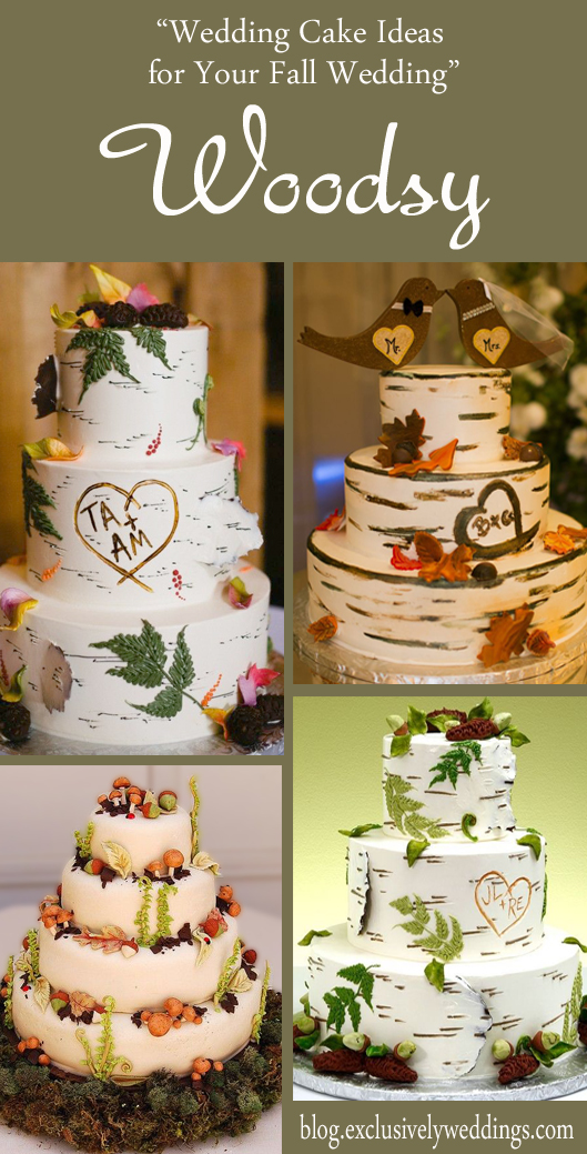 Wedding cake ideas for your fall wedding exclusively weddings wedding cake ideas for your fall wedding woodsy junglespirit Images