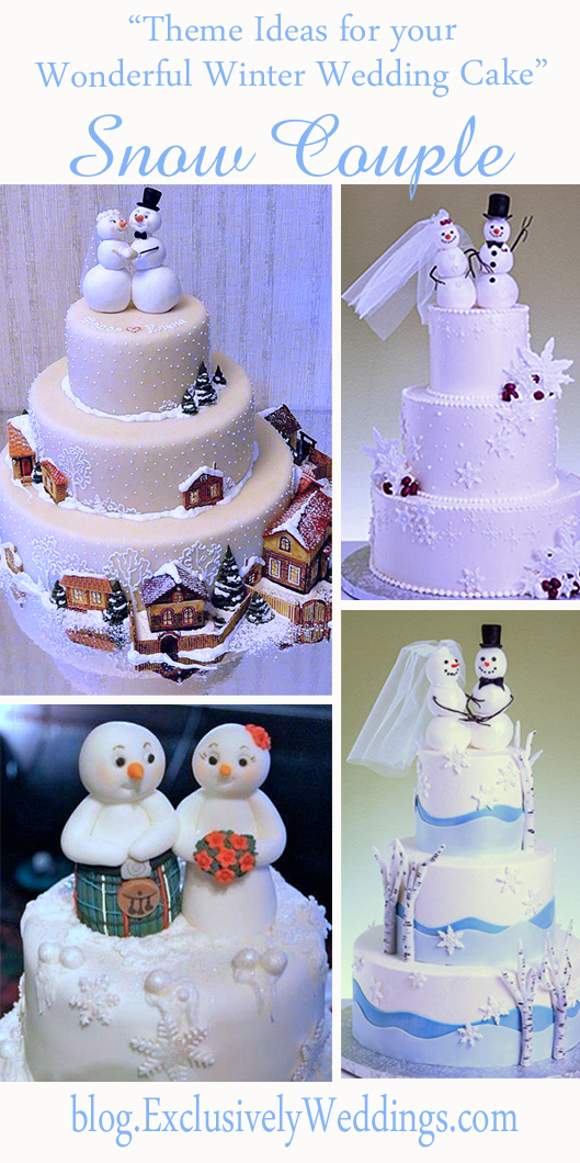 Theme_Ideas_ for_ Your_ Wonderful_ Winter_ Wedding_ Cake_ Snow Couple