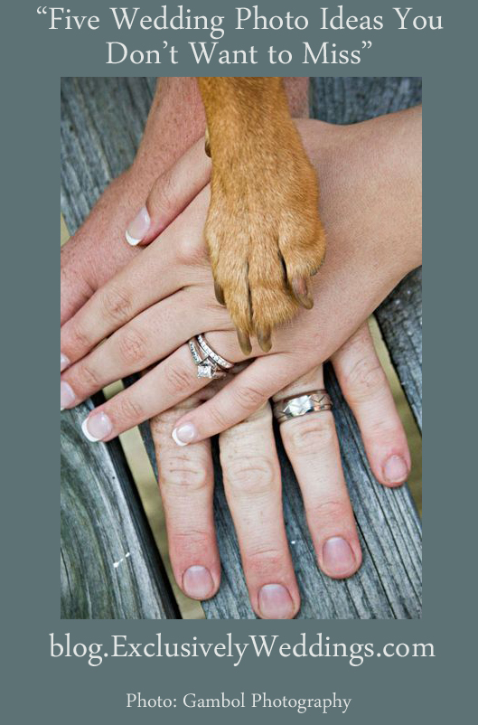 Five Wedding Photo Ideas You Don't Want to Miss - Dog Paw
