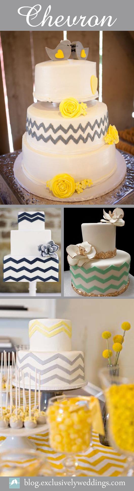 Chevron-Wedding-Cake-Ideas