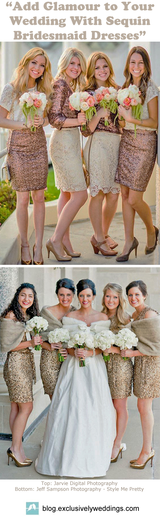 Tailored Bridesmaid Dresses with Sequins